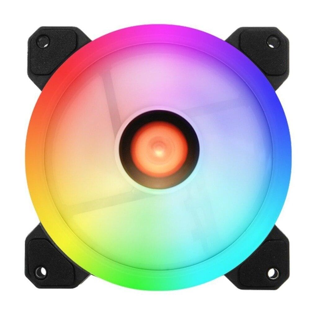 6 шт. компьютер PC Cooler Вентилятор охлаждения двойное кольцо 366 режимов 10 Регулировка уровня Скорость RGB светодио дный 120 мм вентилятор с дистан...