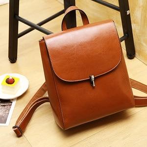 Image 3 - Zency moda kadın sırt çantası 100% hakiki deri sırt çantası rahat seyahat çantası tiki tarzı kız erkek okul çantası yüksek kaliteli çanta