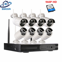 SSICON 960P 8CH Waterproof Bullet WIFI Security Camera System Outdoor 8Channel Plug And Play Wireless Alarm