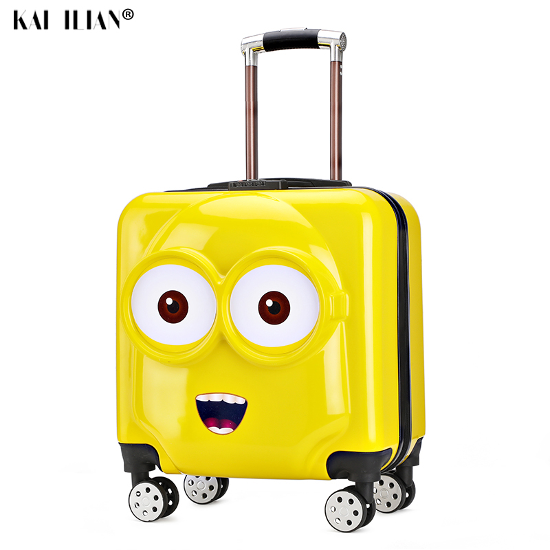 18''20 Inch Kids Suitcase On Wheels Travel Trolley Luggage 3D Cartoon Children's Trolley Bag Carry-ons Cabin Suitcase Girls Boys