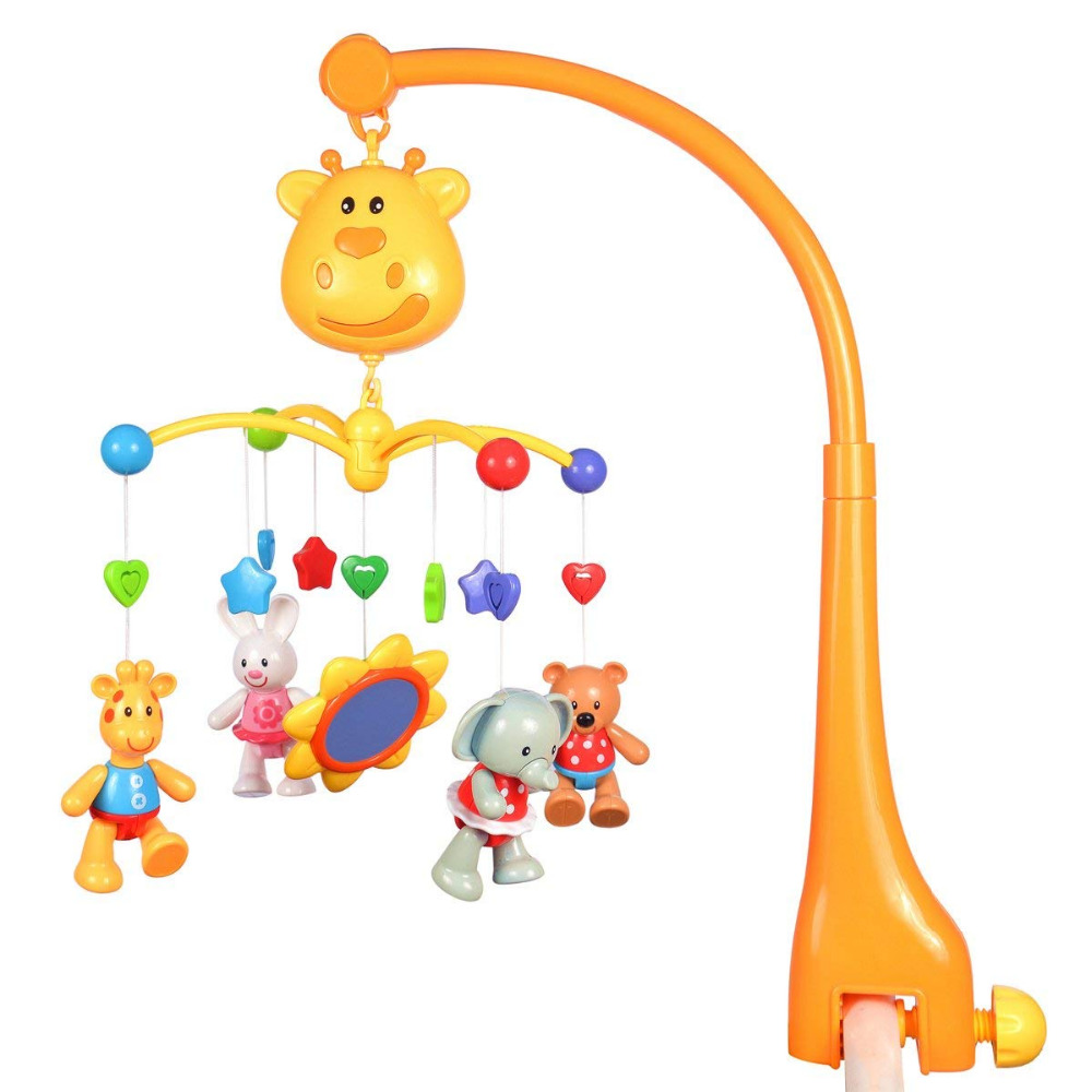 Musical Bed Bell Baby Kids Crib Mobile Bed Bell, Litchi Rattle Intellectual Educational Toy Sound Toys Music Educational Toy shiloh crib mobile infant baby play toys animal bed bell toy mobile cute lovely electric baby music educational toys 60 songs
