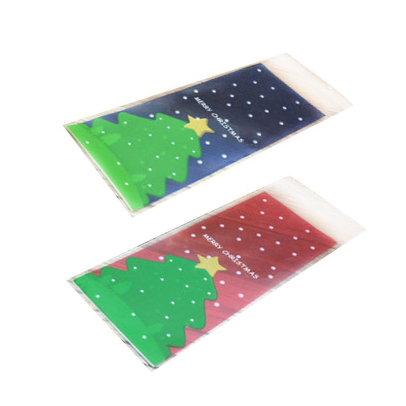 Merry Christmas Tree Gift Bag Red Blue Candy Bag Plastic ...