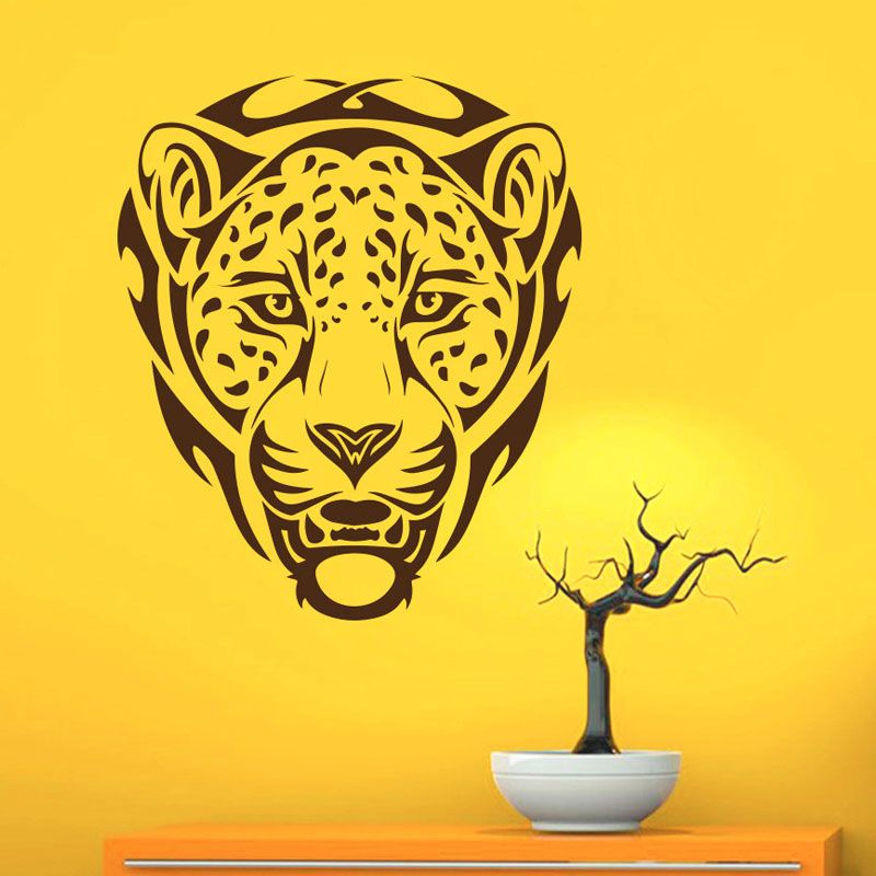 <font><b>African</b></font> Animal Leopards Wall Decals PVC Removable Wall <font><b>Decor</b></font> Art Decal Stickers <font><b>Home</b></font> Decoration Adhesive