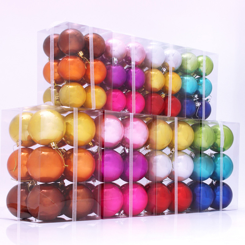 400pcsbox 40cm 40cm 40cm Multicolor Shining Home Festival Decoration Mesmerizing Christmas Tree Decorations In A Box