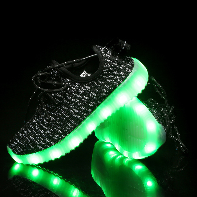 Kid Sneakers 7 Colors Led Glow Shoes Light Up Dance Shoes Girl Boy Luminous Shoes Child Breathable No-ship Night Runing Led Shoe