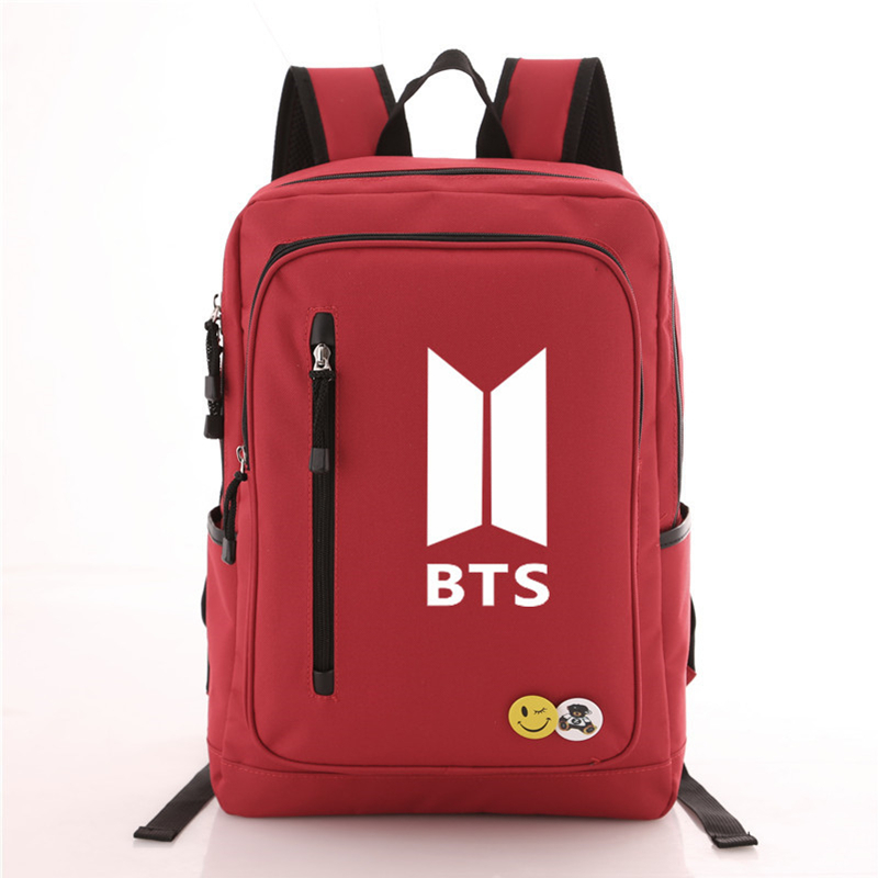 2017 New BTS Bangtan Boys Canvas Backpack Casual Travel Bags BTS Printing Backpack Laptop Backpack Rucksack Oxford School Bags цена