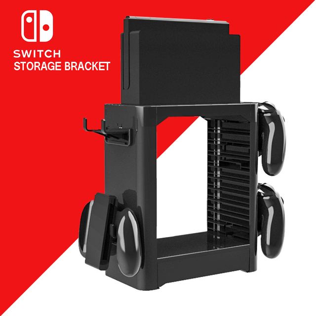 Nintend Switch NS Accessories Game Disc Storage Bracket Holder Tower for Nintendo Switch Joystick Carrying Stand  2