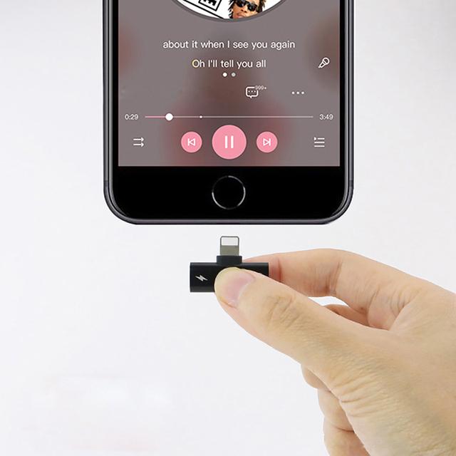 Apple iPhone Lightning Dock Splitter Adapter for Charger and Earphones