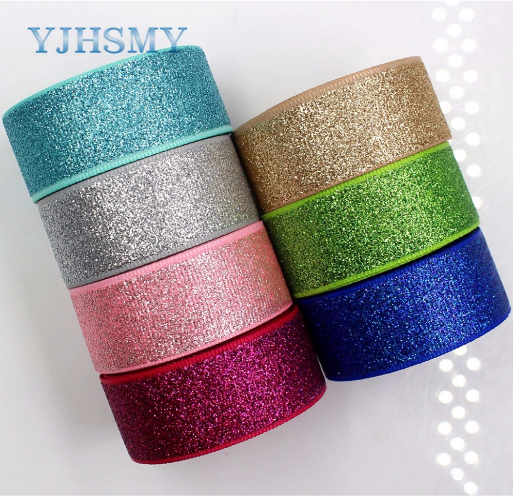 YJHSMY G-18522-255, 22 мм 10 ярдов блеск ленты Термальность передачи печатных grosgrain Свадебные аксессуары поделки ручной работы материал