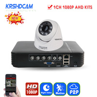 KRSHDCAM 4CH 1080N 5 IN 1 AHD DVR Security CCTV System 20M IR 2PCS 1080P CCTV