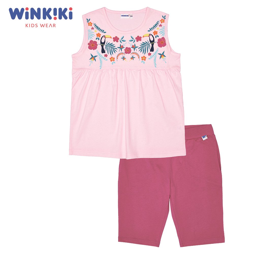 Pajama Sets Winkiki WJG91170 Children's Clothing Sleepwear Robe kids Cotton Pink Girls casual women handbags 2018 new fashion summer chain ladies hand bags cartoon girl printed female crossbody pink casual tote k059