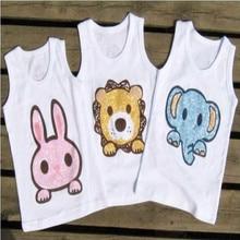 2017 kids new sleeveless vest summer 100% cotton tanks boy and girl children boys clothes tanks  WZD-YT423