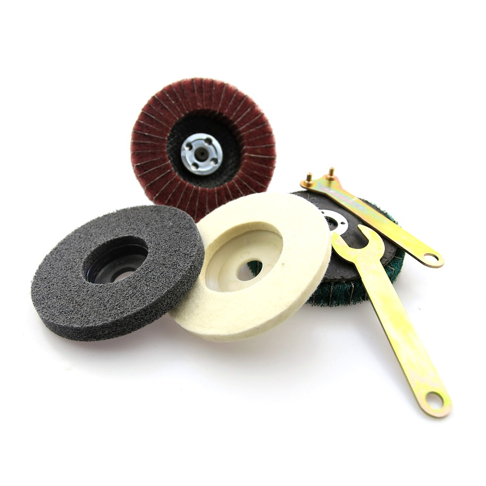 Image 3 - Stainless Steel Aluminium Grinding Polishing Kit fit for Drill DIY Angle Grinder Bulgarian Flap Disc-in Abrasive Tools from Tools
