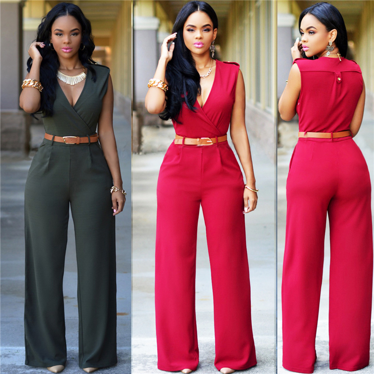 9 Colors Fashion New Sexy Jumpsuit For Women 2019 Solid V Neck Bodysuit Office Rompers Womens Jumpsuit Summer Female Clothing UK