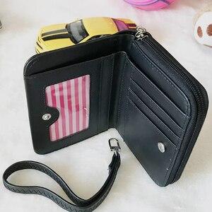 Image 4 - Disney Cartoon Mickey Mouse Print Leather Wallet Women Clutch Bags Trendy Fashion Female Ladies Credit Card Purse Money Bag