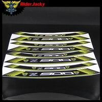 RiderJacky Z900 logo Motorcycle wheel decals rim strips Stickers for Kawasaki Z900 Z 900 2017 2018 17 18