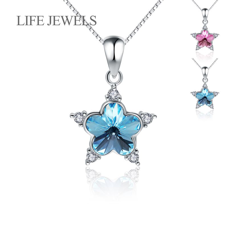 Authentic 100% 925 Sterling Silver Crystal stars Pendants Charm l Women Luxury Sterling Silver Valentine's D Gift Jewelry