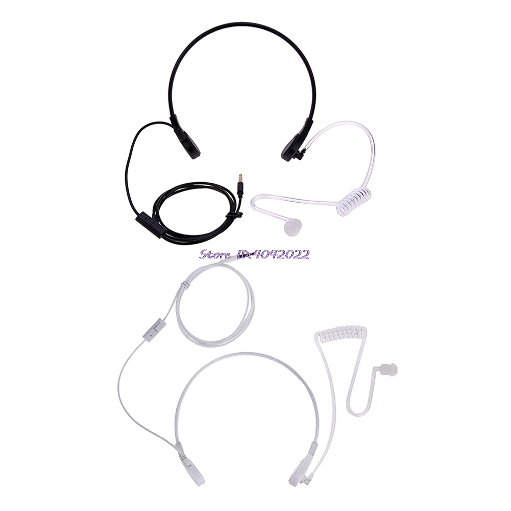 3 5mm Throat Mic Headset Covert Acoustic Tube Fbi Earphone