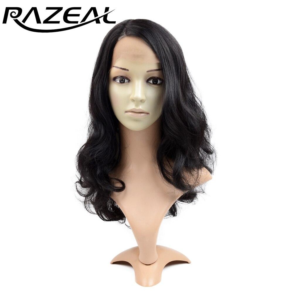 Razeal 20 դյույմ երկար ալիքաձև մազերի - Սինթետիկ մազերը