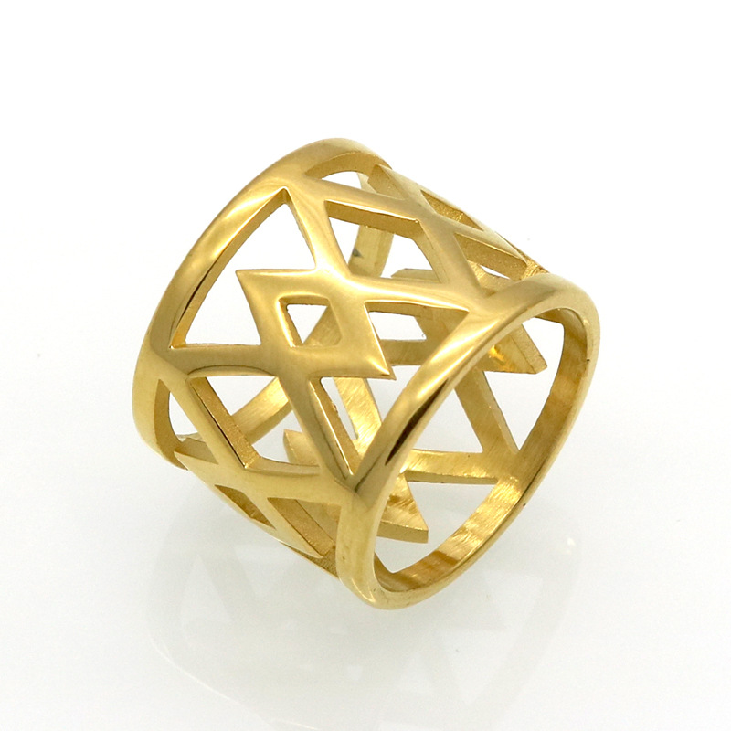 new hot sell fashion lucida love style anel kidney ring female, rhombus Cross wide hollow finger rings jewelry wholesale