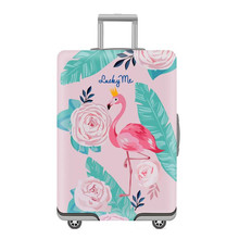 2019 New Cartoon Suitcase Cover Travel Case Dust Jacket Trolley Case Elastic Sleeve 20/24/28/30 Inch Thick Wear-resistant bags(China)