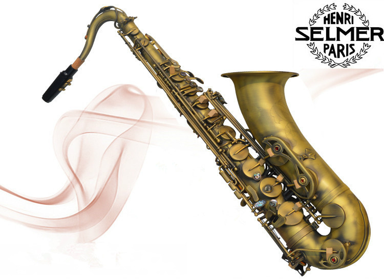 tenor saxophone instrument Reference French Selmer tenor sax BB 54 professional high quality bronze musical instruments Sax bb f tenor trombone lacquer brass body with plastic case and mouthpiece musical instruments