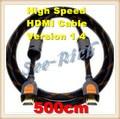 Высокая Скорость 4 К * 2 К HDMI Кабель/Версия 1.4/1080 P/PC & HDTV кабель/Ethernet 3D Ready/Мужчинами Кабель/5 М/Бесплатная доставка