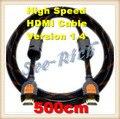 De alta Velocidad de 4 K * 2 K HDMI Cable/Versión 1.4/1080 P/PC y cable de HDTV/Ethernet 3D Ready/Macho a Macho Cable/5 M/Envío gratis