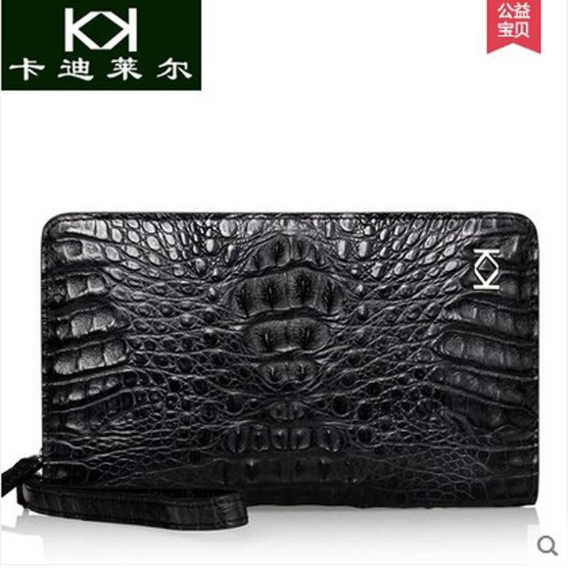KADILER 2018 new hot free shipping crocodile man clutches men purse leather business man bag big capacity men bag