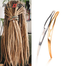 Plussign New Dreadlocks Tool Silver Golden Interlocking Retighten Tools For Locs Easy Locking Needle For Crochet Braid 1-2Pcs(China)