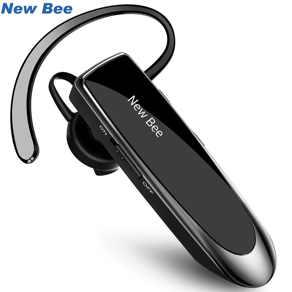 New Bee Bluetooth Fone De Ouvido Bluetooth Fone De Ouvido Hands-free Mini Fone De Ouvido Sem Fio Fones de Ouvido Intra-auriculares Com Microfone Para iPhone xiaomi