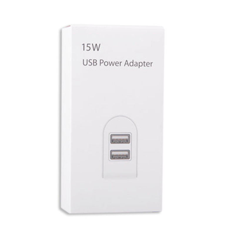 USB Charger 2 Ports for US Plug 15W Charger With Dual Ports Universal for IPhone/ iPad Samsung XIAOMI and other Android Phones