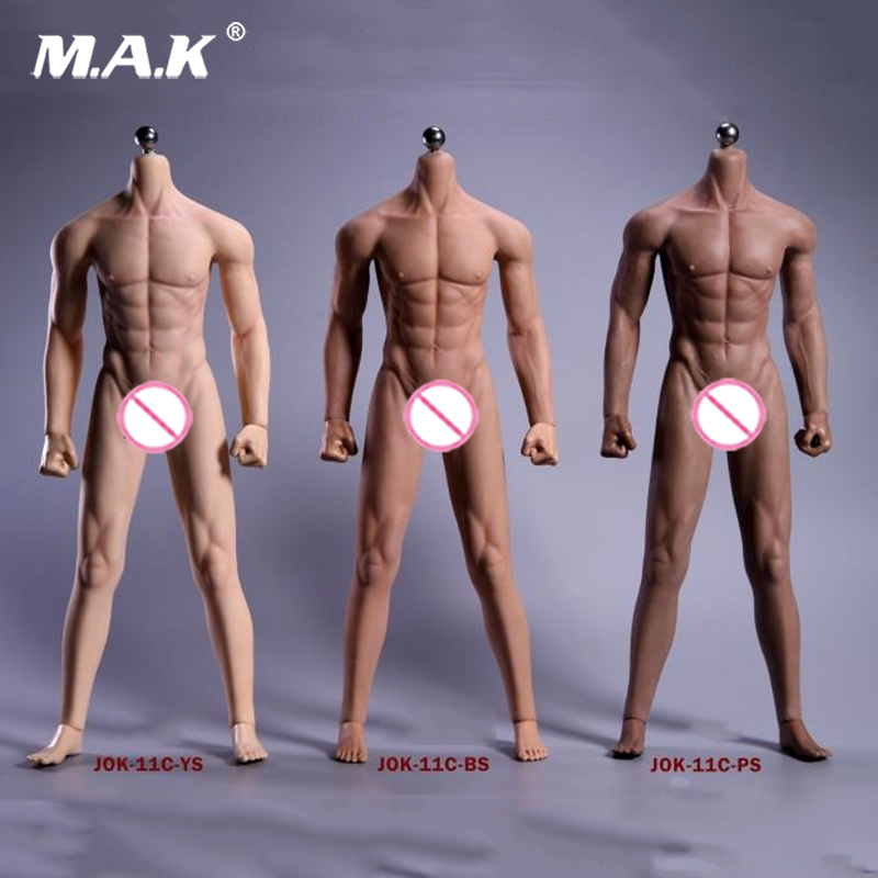 1/6 figure Super Flexible Male Seamless Body natural Tan black Skeleton muscle toys