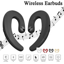 New 1pairs Bone Conduction Earphone EarHook Bluetooth 4.2 Wireless Cordless Headphones Sport Earbuds Headset Hands free with Mic