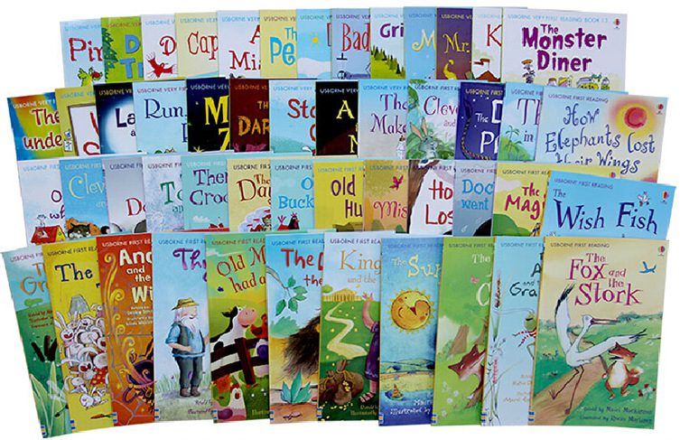 50 books/set Usborne My First Reading Library English Picture Books Baby Early Childhood words learning gift For kids    3
