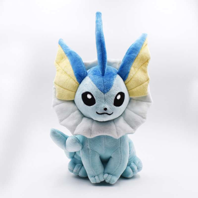 37cm Vaporeon Plush Toy Eevee Plush Doll Soft Toy Classic Plush Hot Toys Christmas Gifts Baby Toys For Children Free Shipping