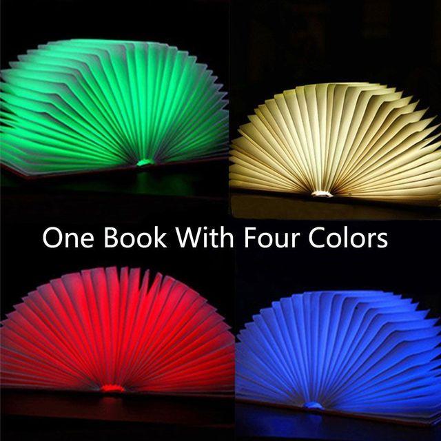 1 unid Plegable Creativo luz Colorida de La Noche del LED Lámpara de luz del Libro de la Lámpara Magnética Regalo