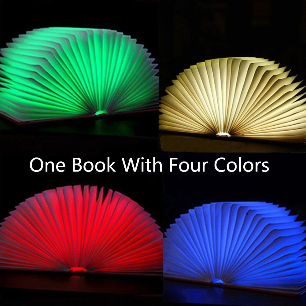 Creative Folding RGB Colors Changing LED Night light Book light Book ...
