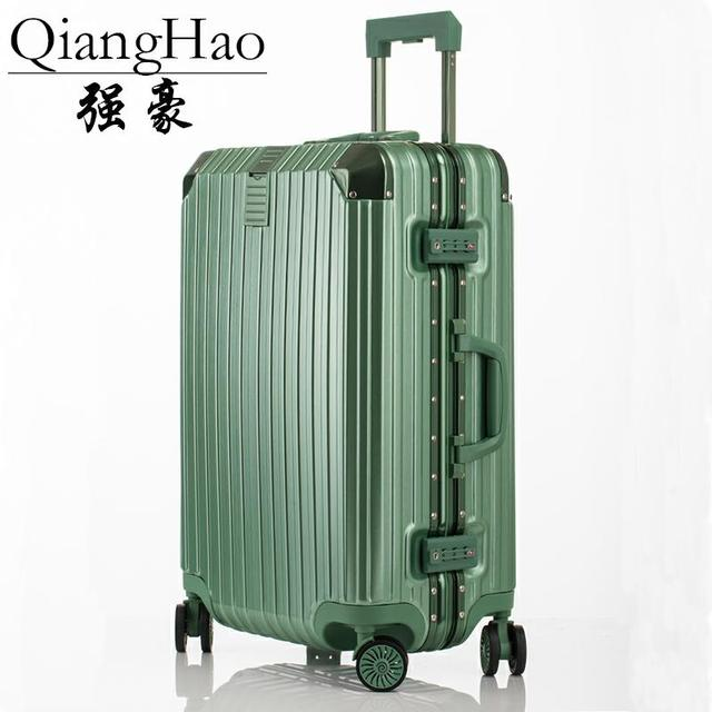 e6c584ed6568 Aliexpress.com : Buy QiangHao Rolling Luggage Bags Aluminum Frame PC Shell  TSA Lock Travel Trolley Case Suitcase With Wheel from Reliable Rolling ...