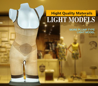LED Light torso Mannequins, chest mannequin for underwear,female mannequin for underwear display