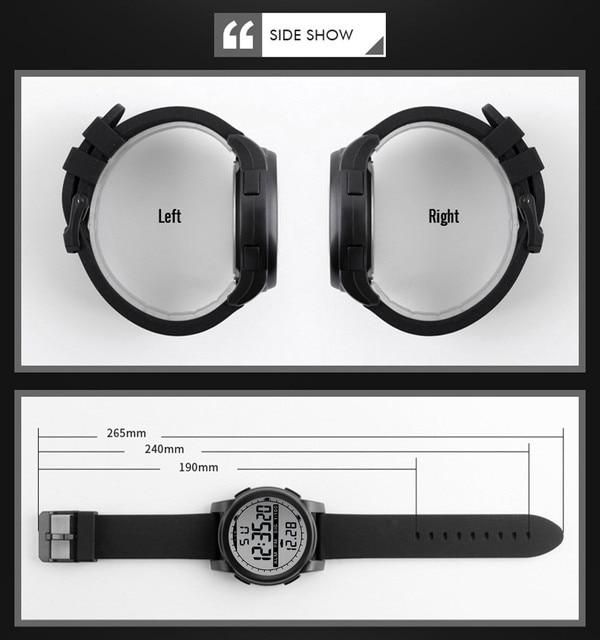 New Men Sports Watches Waterproof Outdoor Fun Multifunction Digital Watch Swimming Running LED Wristwatch Montre Homme 5