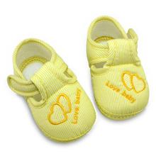 Fashion Cotton Lovely Baby Shoes Toddler Unisex Soft Sole Skid-proof 0-12 Months Kids infant Shoe 3 Colors