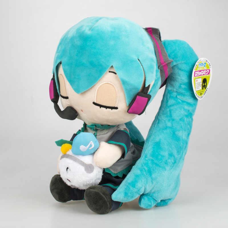Kawaii Hatsune Miku Giocattolo Della Peluche Della bambola Anime Molle Farcito Hatsune Miku Bambole di compleanno per bambini Cuscino regali per le ragazze 10 stili