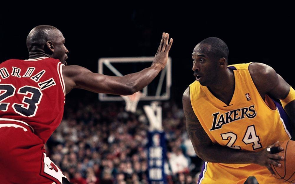 0862D Michael Jordan vs Kobe Bryant Stars-Print Art Silk Poster