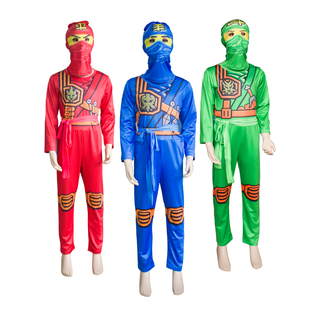 New Ninjago Cosplay Costume Boys Clothes Sets Children Clothing Halloween Fancy Party Clothes Ninja Superhero Suits Boy's Gift