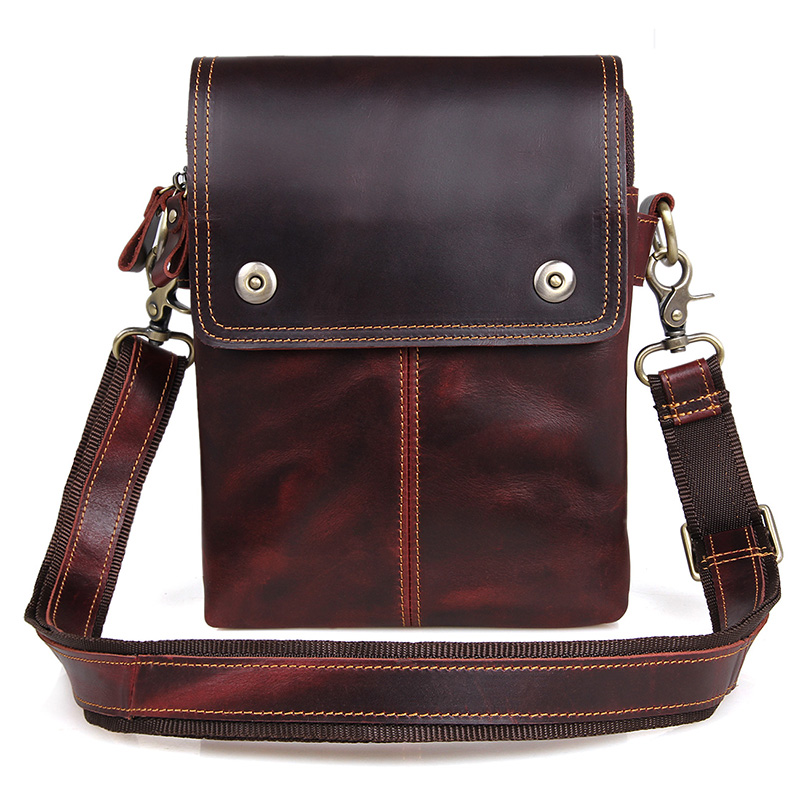 Men Cross Body Bag Genuine Leather Male Small Flap Business Travel Ipad Mini Casual Brown Shoulder Crossbody Messenger Bags brand genuine leather casual small cross body shoulder bag men s messenger bags male cowhide handle pack handbaf for ipad mini
