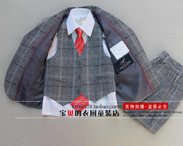 5 pièces communion costumes pour garçons ensemble de vêtements automne nouveautés anniversaire formals vêtements Gentleman garçon tenue marié Tuxedos