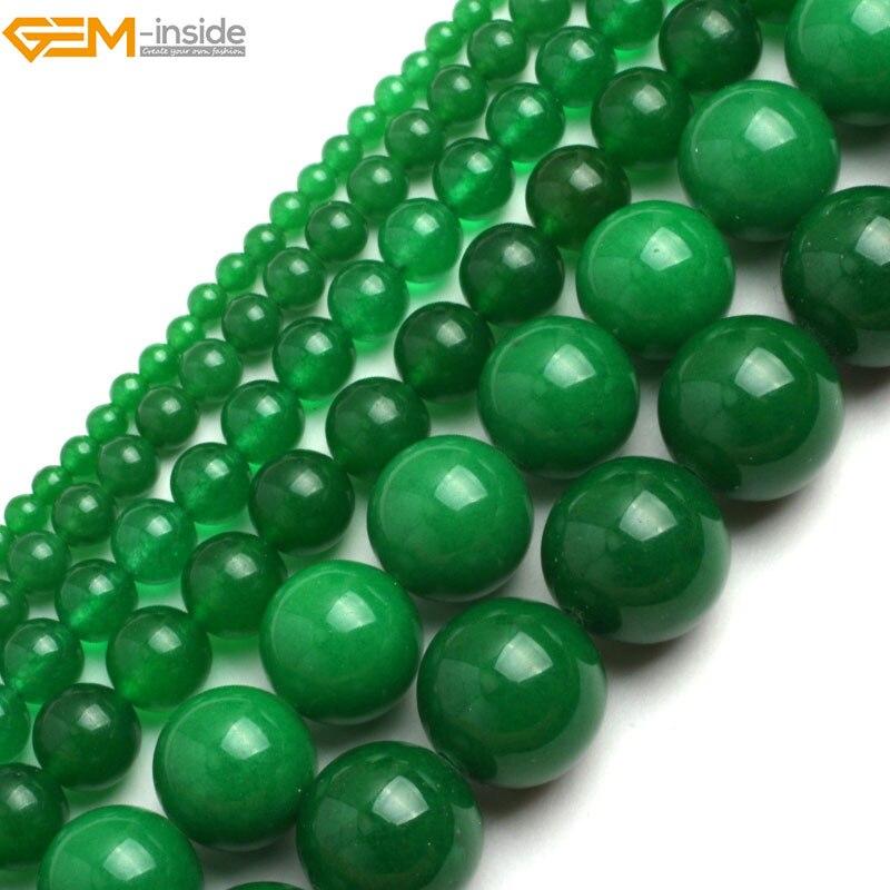 "6mm8mm10mm Natural Green Emerald Aventurine Round Jade Loose Beads 15/"""