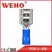 FDD2-205 1000 teile/paket freies verschiffen FDD kleine glühen maschine draht crimp-anschluss