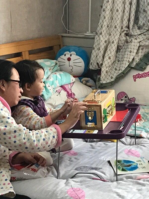 Bébé jouet juguetes montessori serrure boîte éducation de la petite enfance préscolaire formation enfants jouets pour enfants Brinquedos - 4